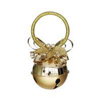 Vánoční ozdoba rolnička 10 cm zlatá