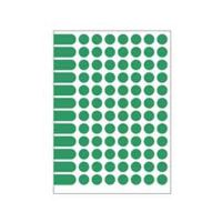 Etikety PRINT kruh 15 zelené 96 etiket / A5