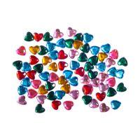 Dekorační kamínky srdíčka mix barev, 200 ks