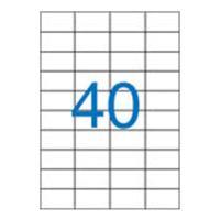 Etikety, univerzálne, 52,5x29,7 mm, VICTORIA, 4000 etikiet/bal