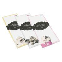 Zápisník trhací, magnetický s potlačou 80x180 mm - Dog & Cat Design