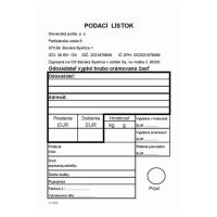 Podací lístek A6 (683)