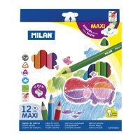 Pastelky MILAN maxi trojhranné 12 ks + ořezávatko