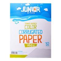 Dekorační papír A4 10 ks bílý vlnkový 160 g