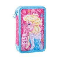 Penál 2-patrový / plněný Frozen, Pink
