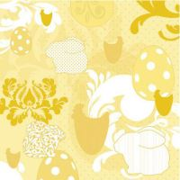 Obrousky PAW L 33X33cm Easter Patchwork Yellow