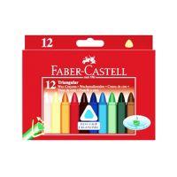 Voskovky Faber-Castell Triangular 12 barev