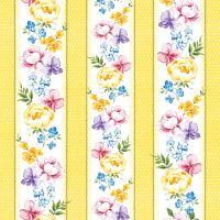 Obrúsky PAW L 33x33cm Vernal Flowers yellow