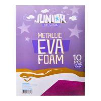 Dekorační pěna A4 EVA 10 ks růžová metalická Hrubý 2,0 mm