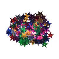 Dekorace hvězdy mix barev 25 mm 14 g.