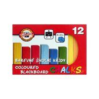 Křída školní barevná 12 ks