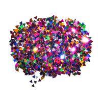 Dekorace trojúhelníky mix barev 6 mm 14 g