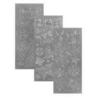 Nálepky POXs - 701 AB  silver