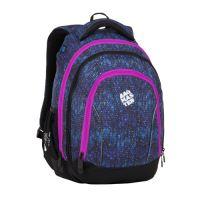 Studentský batoh SUPERNOVA 8 A BLACK/BLUE/PINK