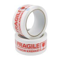 Lepicí páska 48 mm x 66 m - potisk Fragile / Křehké