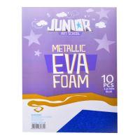 Dekorační pěna A4 EVA 10 ks modrá  metalická Hrubý 2,0 mm
