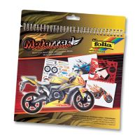 Kreatívny blok so šablónami veľký - Motorcycle
