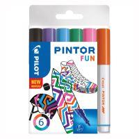 "Dekorační popisovač ""Pintor Fun"", sada 6 ks, hrot F"