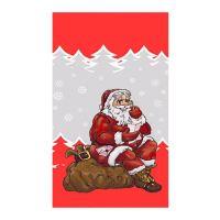 Sáčky - Mikuláš sedící s pytlem 20x35 cm, červený