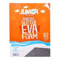 Dekorační pěna A4 EVA 10 ks stříbrný samolepicí glitter 2,0 mm