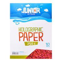 Dekorační papír A4 10 ks červený holografický 250 g