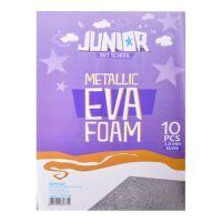 Dekorační pěna A4 EVA 10 ks stříbrná metalická Hrubý 2,0 mm