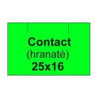 Etikety cen. CONTACT 25x16 hranaté - 1125 etikiet/kotúčik, zelené
