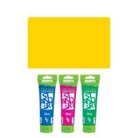 Akrylová barva JUNIOR 120 ml žlutá medium 120