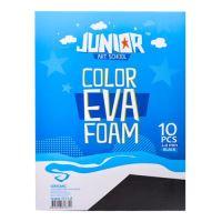 Dekorační pěna A4 EVA 10 ks černá tloušťka 2,0 mm