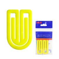 Dopisní spony plastové 634, oblá, 75 mm (3ks)