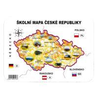 Školní papírová mapa ČR šablona geografická
