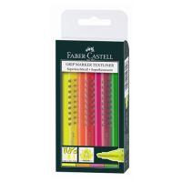 Zvýrazňovač Faber-Castell Grip Textliner R / 4 set