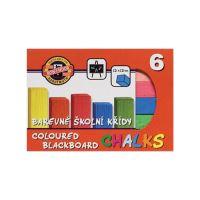 Křída školní barevná 6 ks
