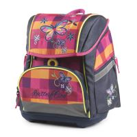 Školní anatomický batoh Premium Flexi Motýl