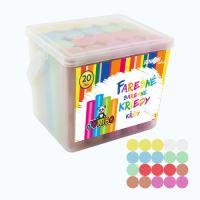 Kriedy farebné/chodníkové, okrúhle 20 ks - plastový box