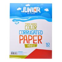 Dekorační papír A4 10 ks červený vlnkový 160 g
