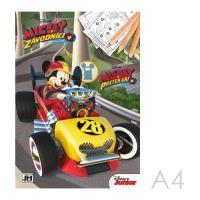 Omaľovánka A4 Mickey a pretekári