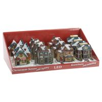 Vánoční domek - svítící 8x8 cm, různé druhy, 1 ks