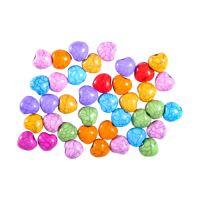 Dekorační korálky srdíčka mix barev 15 g.