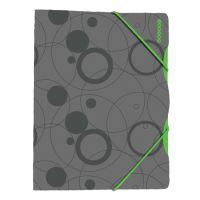 Deska s gumičkou A4, Duo Colori šedo-zelená