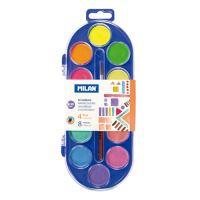 Barvy vodové MILAN - 12 barev, 30mm