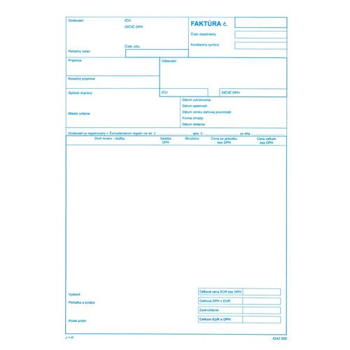 Faktura - daň. doklad A4, samoprepis (20)