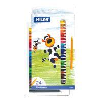 Plastické pastelky MILAN 24 ks