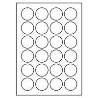 Etikety PRINT kruh 40 biele 24 etikiet / A4