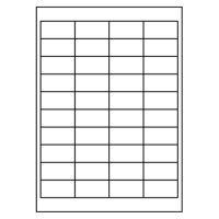 Etikety PRINT 48,5 x 25,4 bíle 40 etiket / A4