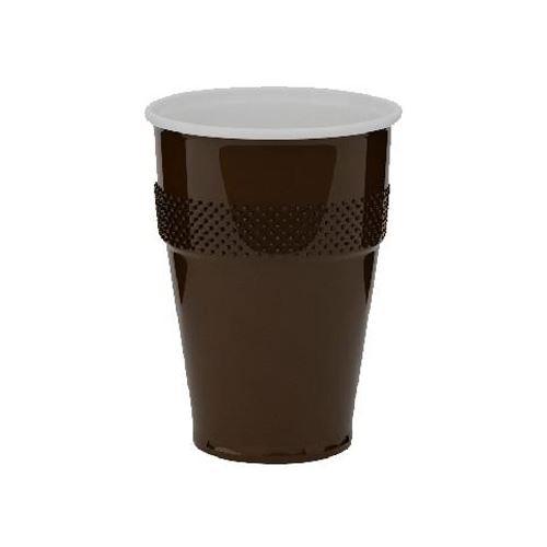 Automatový pohár hnědo-bílý 0,15 ml, 100ks