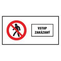 Etikety Info - Vstup zakázán 262x131 mm