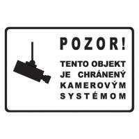 Etikety Info - Objekt chráněn kamerou 200x135 mm