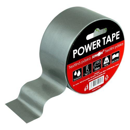 Lepící páska textilní POWER TAPE 48 mm x 10 m šedá