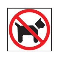 Etikety Info - Zákaz vstupu se psem 114x114 mm